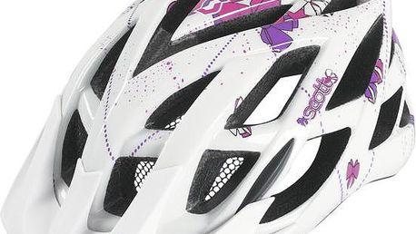 Kvalitní dětská cyklistická přilba Helmet Spunto Contessa White/Purple