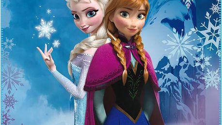 Fleece dečka Frozen (Ledové království) ledový hrad