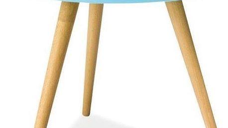 Konferenční stolek Toni 50 cm, modrý - doprava zdarma!