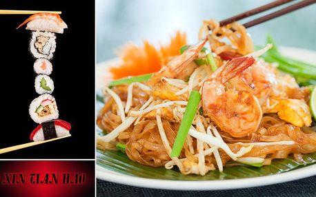 To nej z ASIJSKÉ kuchyně! SUSHI, thajské a čínské speciality, masové plotýnky a VÝHODNÉ SUSHI SETY!