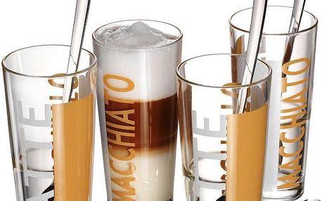 Ritzenhoff&Breker 4ks sklenice na Latte + lžičky