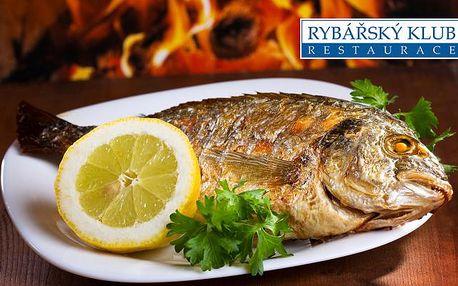 Restaurace RYBÁŘSKÝ KLUB: speciality z nejčerstvějších mořských i sladkovodních ryb na Kampě za polovinu!