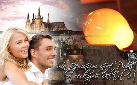Tajemství staré Prahy! Poutavá 2hodinová vycházka s návštěvou sklářské dílny + DÁREK!