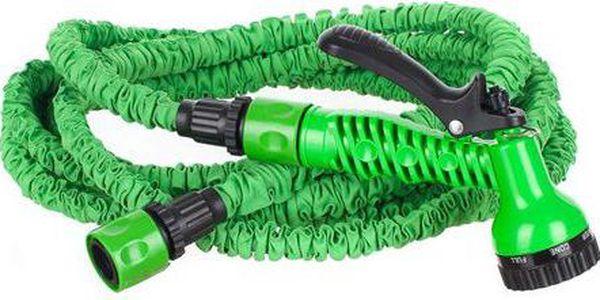Smršťovací zahradní hadice o délce max. 15 m s průměrem 1/2'' Happy Green Natahovací