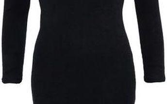 Černé úzké šaty s dlouhým rukávem AX Paris