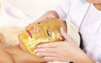 Ultrazvukové čištění pleti, radiofrekvence a zlatá maska!
