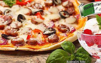 2x pizza nebo 2x horké maliny U Jana