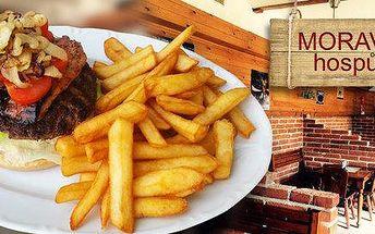 Dva burgery s hovězím masem Black Angus