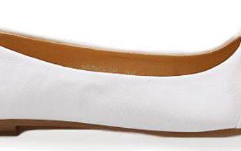 Bílé baleríny 2538-16WH Velikost: 41