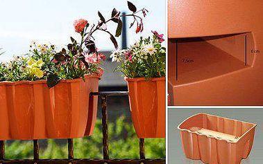 4 kusy samodržících zahradních truhlíků na balkón!
