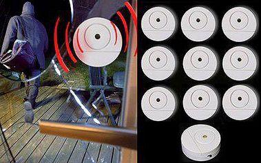 Samolepicí ALARM na sklo - 10 kusů čidel pro váš dům