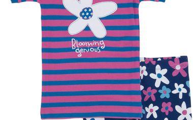 Dívčí letní pyžamko, růžovo-modré