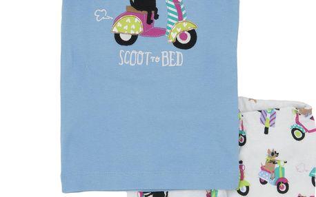 Dívčí letní pyžamko, modro-růžové