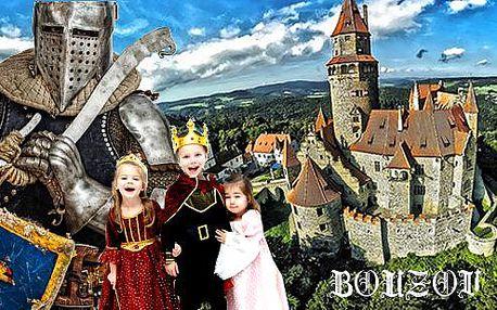Cesta středověkem na hradě Bouzov s celodenním programem pro celou rodinu! Zážitkové dobrodružství nejen pro děti exkluzivně jen na SlevaDne.cz!