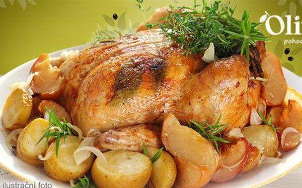 Pečené farmářské kukuřičné kuře pro dva
