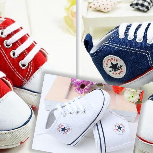 Dětské botičky Converse Style ve 3 barevných variantách. Stylové, roztomilé a unikátní botičky!