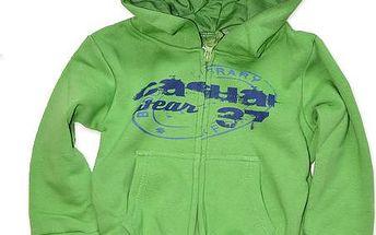 Chlapecká zelená mikina s kapucí