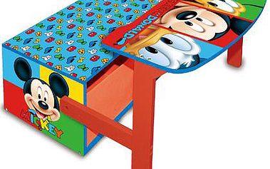 Dřevěná lavice a stůl 3v1 Mickey