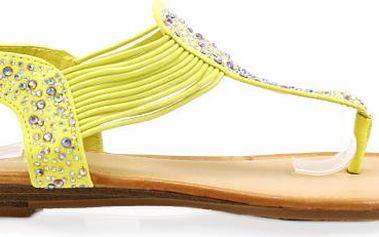 Sandálky s kamínky 6551YE Velikost: 39