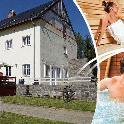 3 dny relaxace pro dva v hotelu Žákova hora. Polopenze, whirlpool, infrasauna, solná terapie.