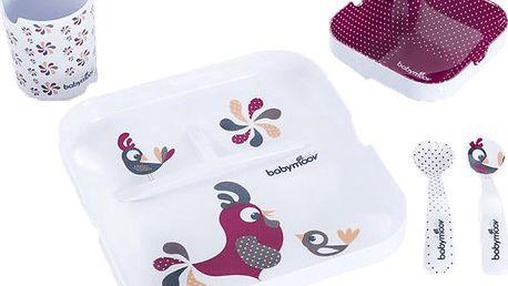 Babymoov melaminová jídelní sada lovely bird