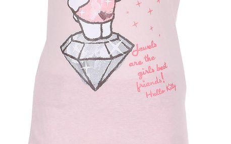 Dívčí růžový set Hello Kitty - top a sukně