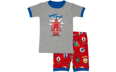 Chlapecké letní pyžamko, šedo-červené