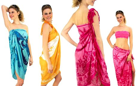 Velké pareo z Indie ze 100% bavlny v různých barevných provedeních