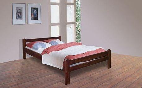 Postel VIKI - rozměr pro matraci - 90/200cm - MB7034 ořech