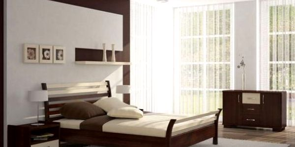 Postel MEDINA pro matraci 90/200cm - MB7038 ořech/vanilka