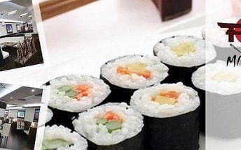Menu pro 2 s 34 kousky sushi, mořskými řasami a salátem
