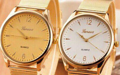 Elegantní dámské kulaté hodinky Geneva
