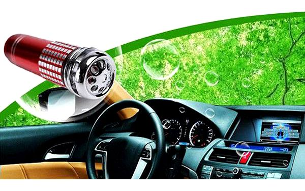 Mini 12V ionizátor do auta - 3 barvy