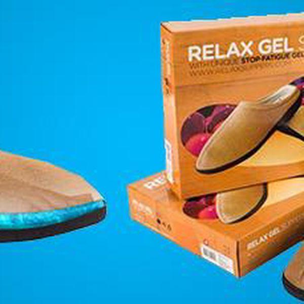 Relaxační pantofle s gelovou vložkou: Ulevte svým namáhaným nohám!