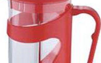 Konvička na čaj a kávu French Press 800 ml červená RENBERG RB-3102cerv