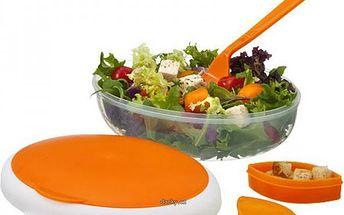 Obědová sada s vidličkou a nádobkou na dresinky