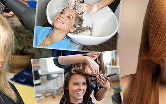 Vyzkoušejte ošetření vlasů amino keratinem zažehlením + mytí, střih, foukaná jako bonus.