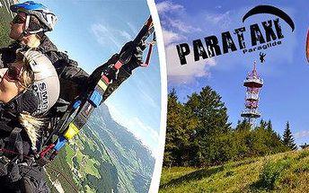 Tandem Paragliding se zkušeným pilotem