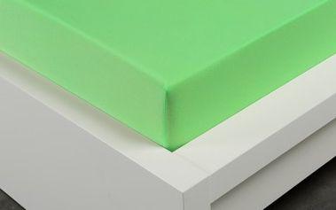 XPOSE ® Jersey prostěradlo Exclusive dvoulůžko - letní zelená 200x220 cm