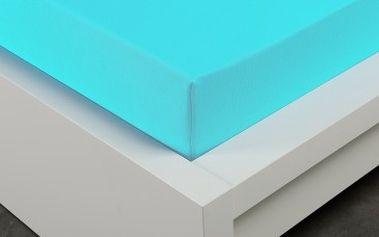 XPOSE ® Froté prostěradlo Exclusive - azurová 140x200 cm