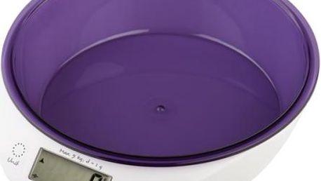 Kuchyňská váha Gallet Blou BAC 867P bílá/fialová
