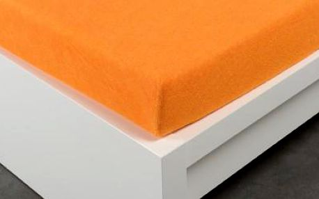Dreaming Peacock prostěradlo Exclusive froté oranžové 180x200