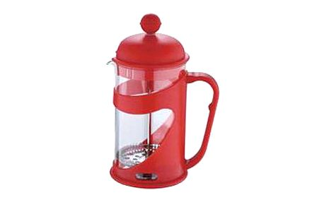 Konvička na čaj a kávu French Press 800 ml červená RENBERG RB-3102cerv
