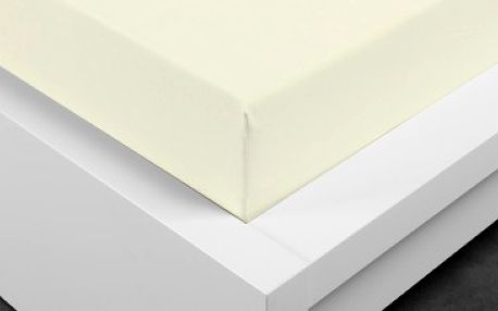XPOSE ® Jersey prostěradlo dvoulůžko - vanilka 180x200 cm