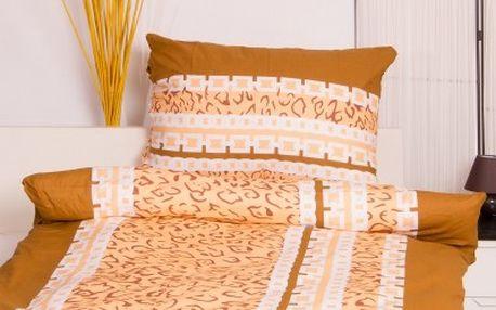 Dreaming Peacock povlečení na dvě lůžka SIMONA - hnědá 140x220, 70x90