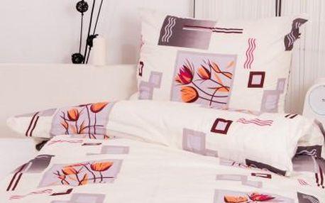 Dreaming Peacock povlečení na dvě lůžka MILADA - šedá 140x220, 70x90