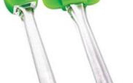 Stěrka + štětec, silikon - sada 2 ks, zelená RENBERG RB-3653zele