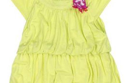 Dívčí tunika s čelenkou - žluté