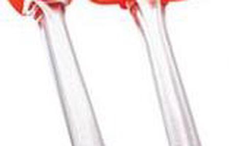 Stěrka + štětec, silikon - sada 2 ks, oranžová RENBERG RB-3653oran
