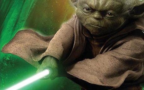 JERRY FABRICS Plážová osuška Star Wars Yoda 75x150